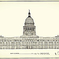 Texas State Capitol Architectural Design Print by Mountain Dreams