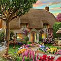 Thatched Cottage Print by Adrian Chesterman