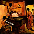 The 1st Jazz Trio Print by Larry Martin