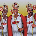 The 3 NBA Kings Poster by David Pedemonte
