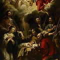 The Adoration of the Shepherds Print by Jan Cossiers