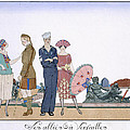 The Allies in Versailles Print by Georges Barbier