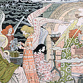 The Angels Kitchen Print by Eugene Grasset