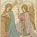 The Annunciation of the Blessed Virgin Mary Print by English School