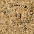 The Artists House in Arles Print by Vincent Van Gogh