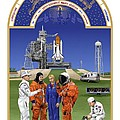 The Astronaut's Book of Hours - The Space Shuttle Print by Tharsis  Artworks