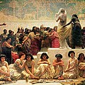 The Babylonian Marriage Market, 1875 Print by Edwin Longsden Long