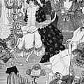 The Battle of the Beaux and the Belles Print by Aubrey Beardsley