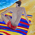 The Beach Towel Poster by Donna Blackhall