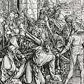 The Bearing of the Cross from the 'Great Passion' series Print by Albrecht Duerer