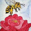 The Bee and The Rose Print by Shirin Shahram Badie