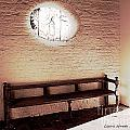 The Bench at Saint Lukes Church Print by Artist and Photographer Laura Wrede