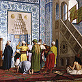 The Blue Mosque Print by Jean Leon Gerome