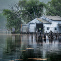The Boathouse Print by Bill  Wakeley
