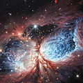 The Brush Strokes of Star Birth Print by Lucy West
