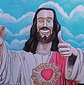 The Buddy Christ Print by Jeremy Moore