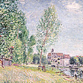 The Builder's Yard at Matrat Moret-sur-Loing Poster by Alfred Sisley