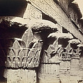 The Capitals of the Portico of the Temple of Khnum in Esna Print by Francis Bedford