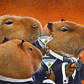 The Capybara Club... Poster by Will Bullas
