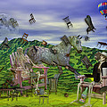 The Chairs of Oz Print by Betsy A  Cutler