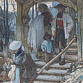 The Christening Gate In Lausanne, C.1861 Print by Matthijs Maris