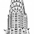 The Chrysler building Print by Luciano Mortula
