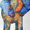 The Colorful Elephant Poster by Brandi  Hickman
