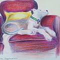 The Comfy Chair Print by Ginny Schmidt