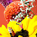 The concert in the flower miniature art Print by Paul Ge