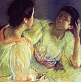 The Conversation Poster by Mary Stevenson Cassatt