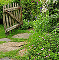 The Cottage Garden Walkway Poster by Thomas Schoeller