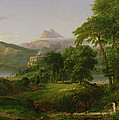 The Course of Empire   The Arcadian or Pastoral State Print by Thomas Cole