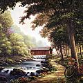 The Covered Bridge Poster by John Zaccheo