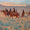 The Cowpunchers Print by Frederic Remington