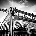The Crab Cooker Newport Beach Black and White Photo Print by Paul Velgos