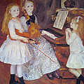 The Daughters of Catulle Mendes Print by Pierre Auguste Renoir