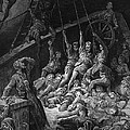 The dead sailors rise up and start to work the ropes of the ship so that it begins to move Print by Gustave Dore