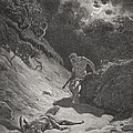 The Death of Abel Print by Gustave Dore