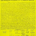 THE DECLARATION OF INDEPENDENCE in YELLOW Print by ROB HANS