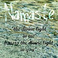 The Divine Light Print by Poetry and Art