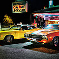 The Dodge Boys - Cruise Night at the Sycamore Print by Thomas Schoeller