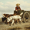 The Dog Cart Print by Henriette Ronner-Knip