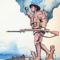 The Doughboy Stands Poster by Katherine Miller