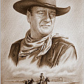 The Duke Captured sepia grain Poster by Andrew Read