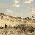 The Dunes of Dunkirk Print by Jean Baptiste Camille Corot