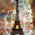 The Eiffel Tower - Paris France Art By Sharon Cummings Poster by Sharon Cummings