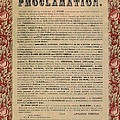 The Emancipation Proclamation Print by American School