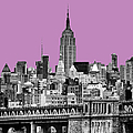 The Empire State Building pantone african violet Poster by John Farnan