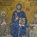 The Empress Zoe mosaics on the eastern wall of the southern gallery in Hagia Sophia  Poster by Ayhan Altun