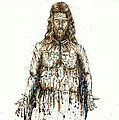 The Faces of  Body of Jesus Christ Print by Thomas Lentz